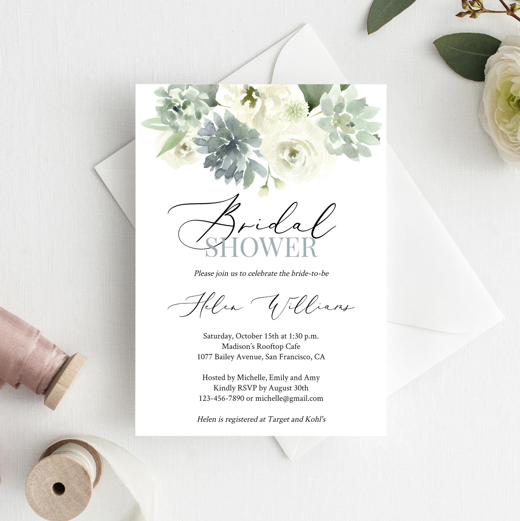 Featured Etsy Products Bridal Shower Ideas Themes Bridal Shower Diy Target Wedding Invitations Bridal Shower Invitations Templates