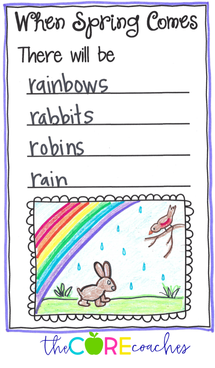 When Spring Comes Spring 5 Senses Alliteration Imagery Poetry Interactive Writing Spring Writing Activity Kindergarten Writing [ 1239 x 725 Pixel ]