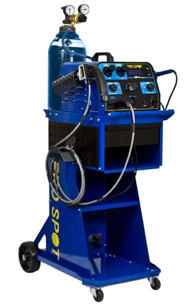 The Nitrogen Plastic Welder uses hot nitrogen gas to restructure
