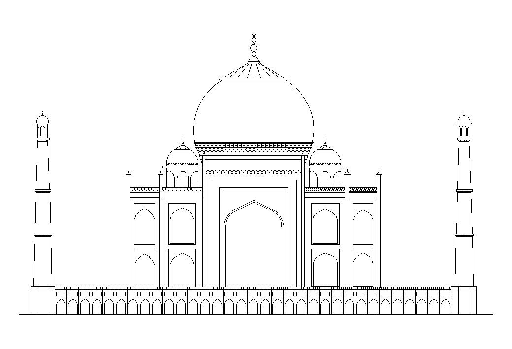 The Taj Mahal With Images Taj Mahal Drawing Taj Mahal