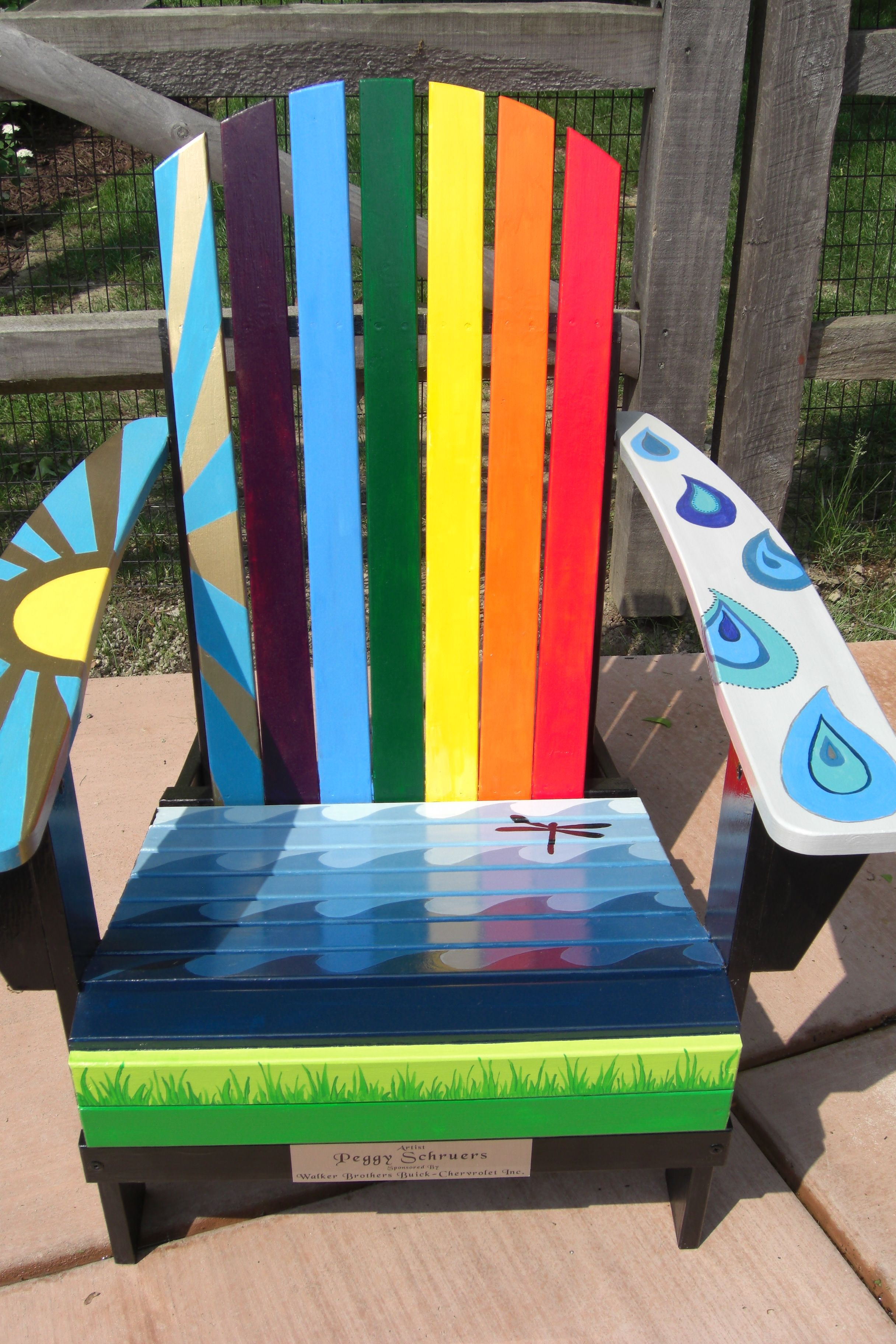 Painted Adirondack Chairs High Table Chair Set For Lakeside Home Association In Edinboro Pa