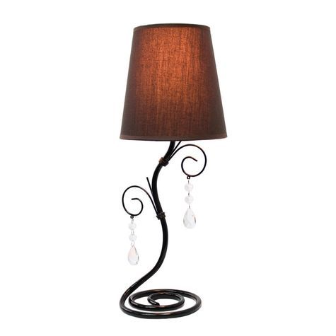 Simple designs twisted vine table lamp with fabric shade shopko