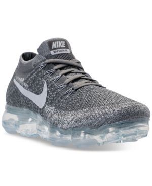 2cab523091db Nike Men s Air VaporMax Flyknit Running Sneakers from Finish Line - Black  7.5