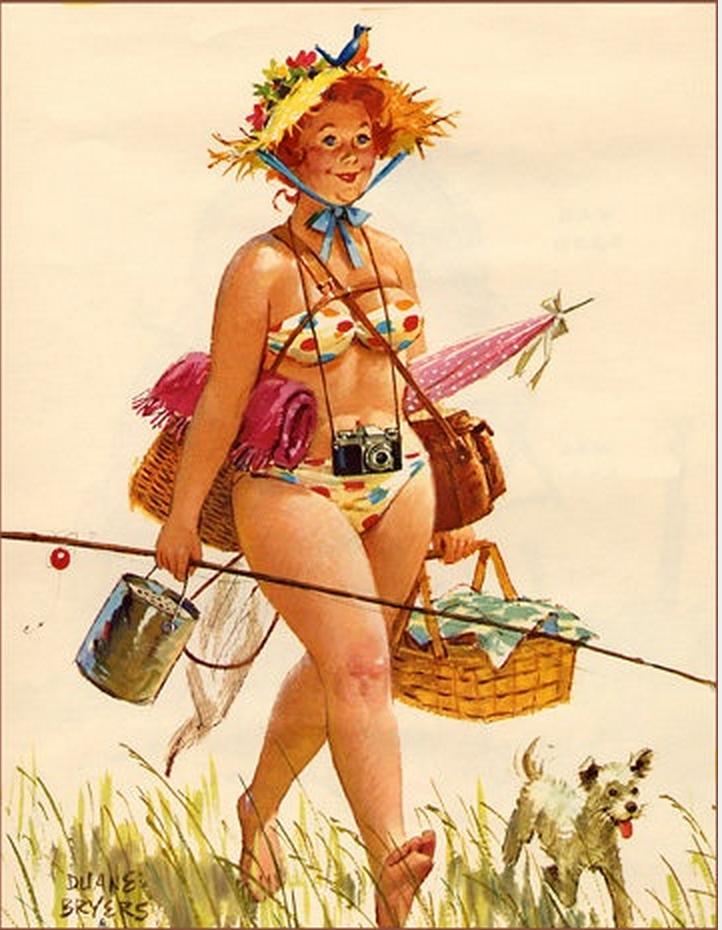 Рисованные прикольные картинки про женщин