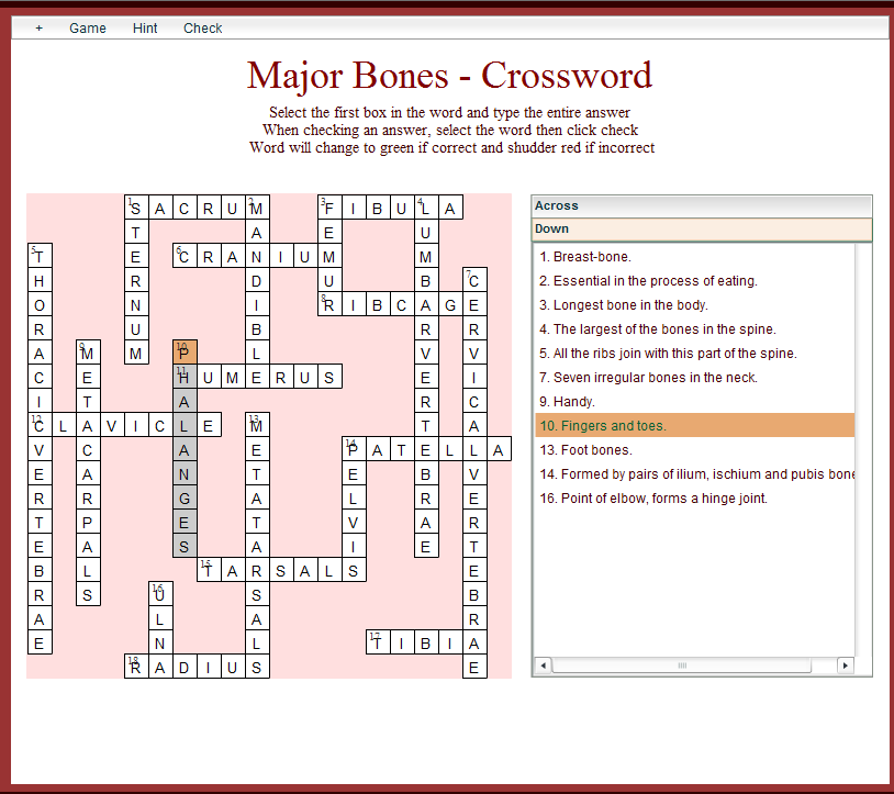 Here's a great Major Bones crossword~ | Health/MT Tools and Tips