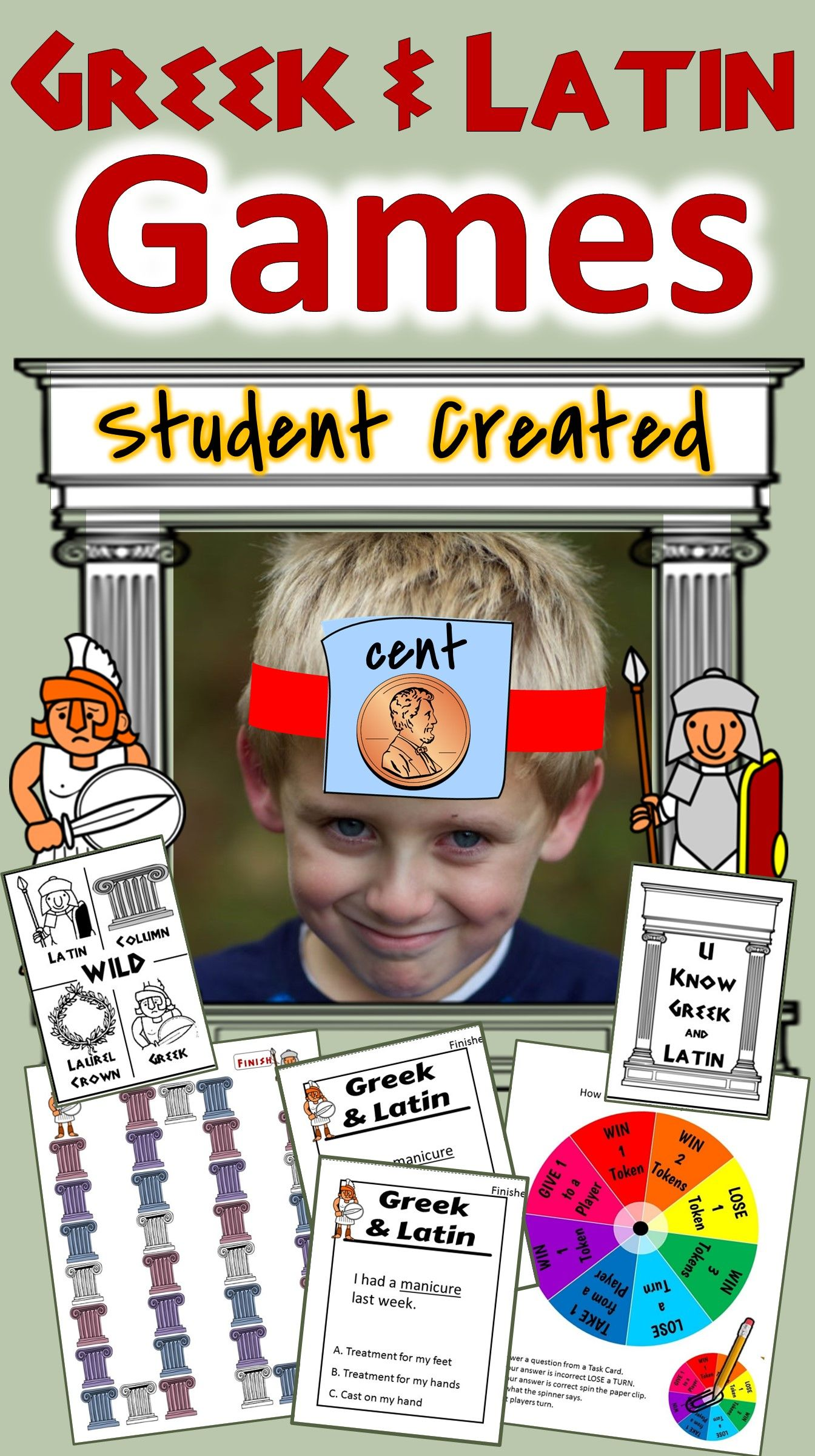 Greek And Latin Roots Activities Student Created Games