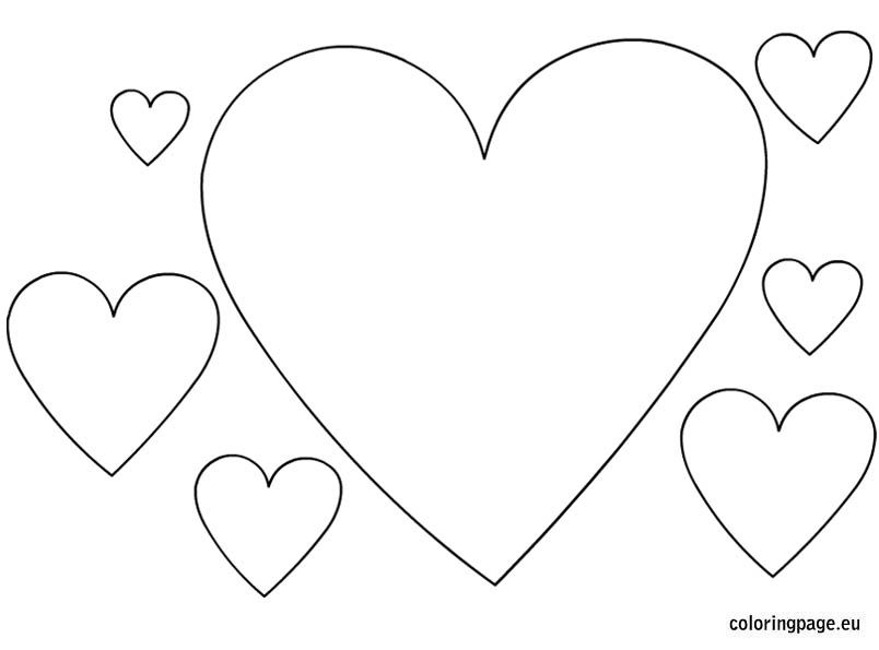 Hearts Shapes Coloring Page Heart Coloring Pages Shape Coloring Pages Love Coloring Pages
