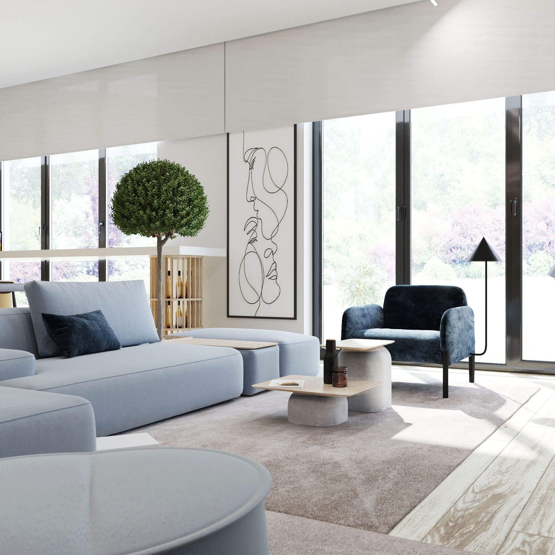 51 Modern Living Room Design From Talented Architects: Https://www.behance.net/gallery/87831109/Interior-Design