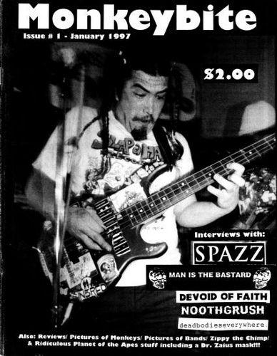 Monkeybite #1, 1997 - punk fanzine