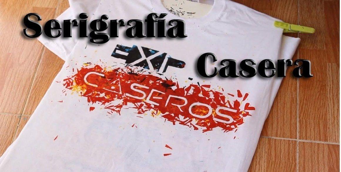 C mo estampar camisetas en casa serigraf a casera experimentos caseros ideas crafts - Estampar camisetas en casa ...