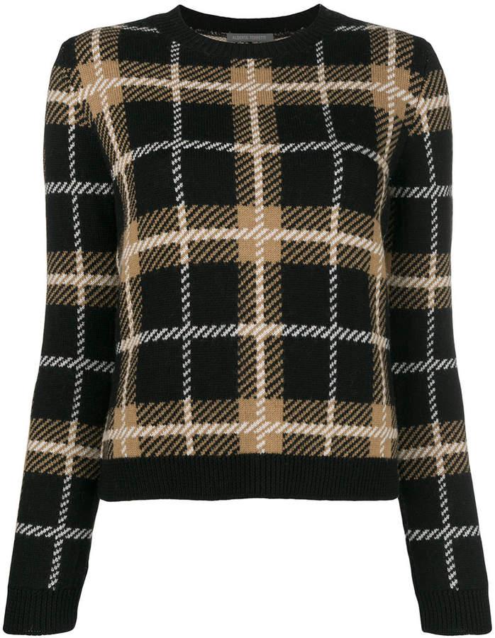 6f2ded5365 Alberta Ferretti plaid fitted sweater