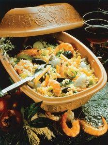 Spanische Küche aus dem Römertopf: Paella Katalan › foodies Magazin › ...aus wahrer Liebe zum Kochen
