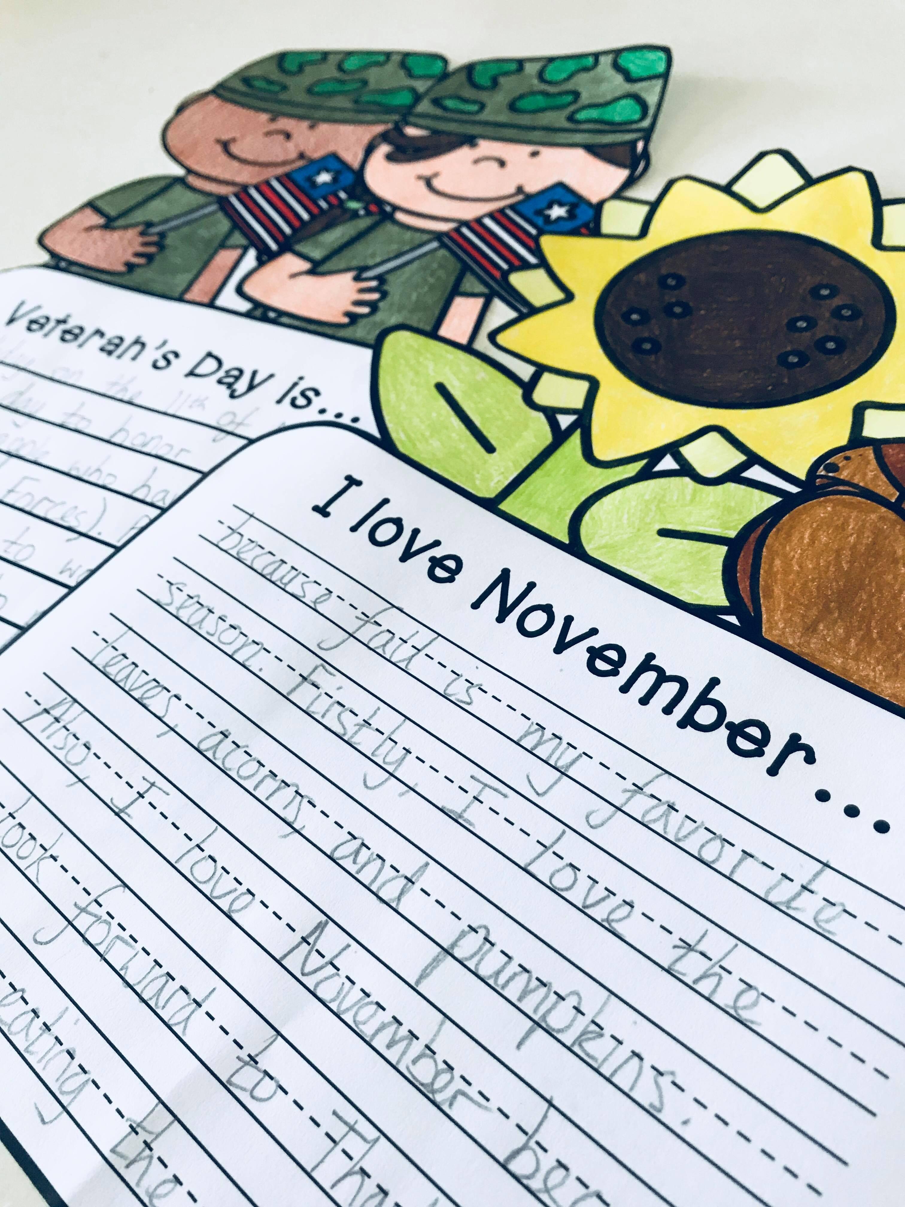 November Craftivity 3 No Prep Writing Prompts Amp Crafts