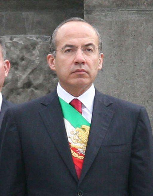 Felipe Calderon El Presidente De Los Estados Unidos Mexicano