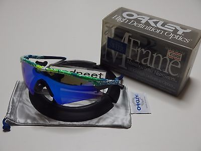 d056a73083 DS Oakley M Frame Mumbo Splatter Green with Blue Iridium Sweep vintage C