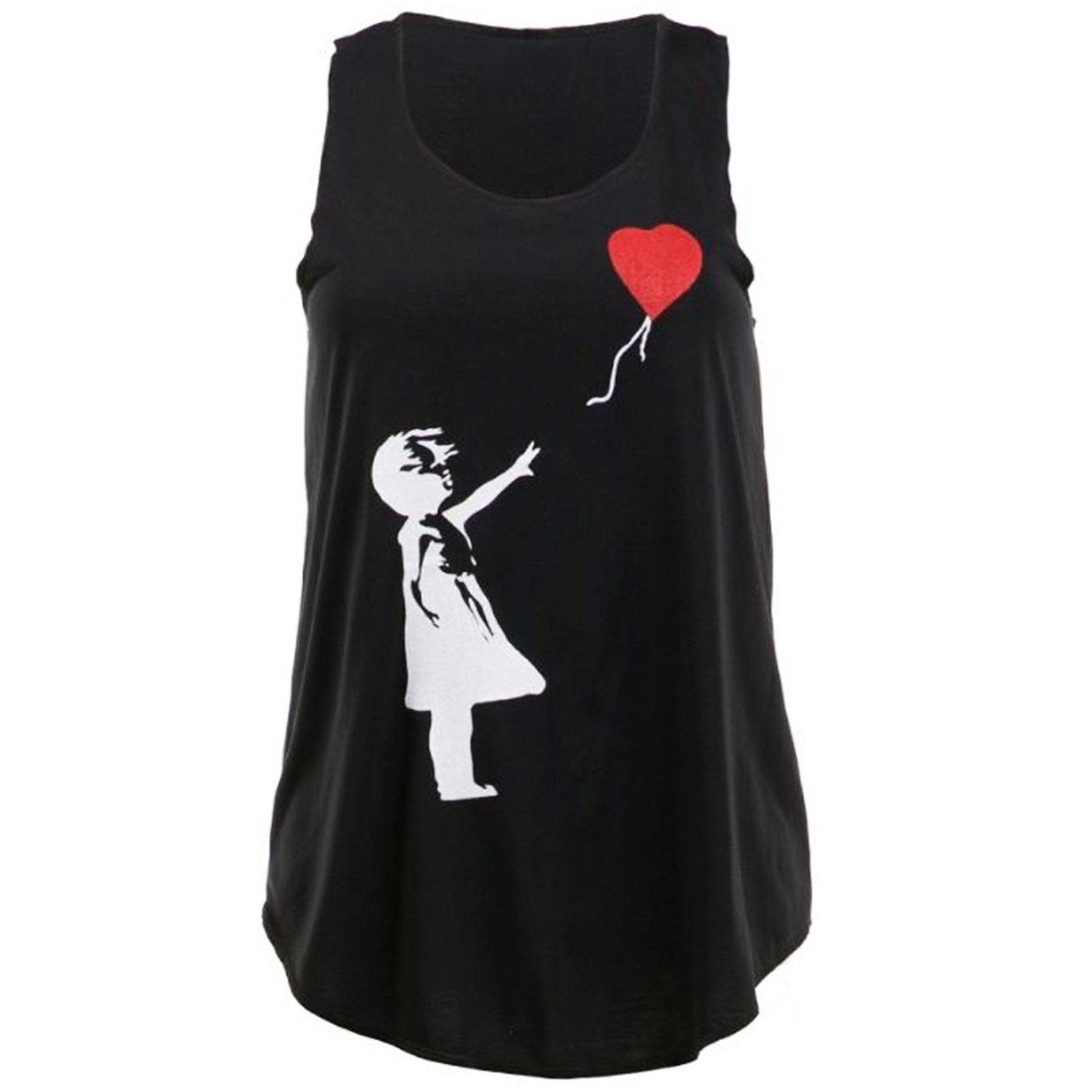 Banksy Girl With Heart Shaped Balloon Graffiti Cool Sweatshirt Jumper S-XXL