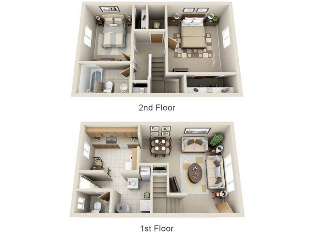 2 Bedroom 1 1 2 Bath Townhouse 761 Rent 250 Dep 2 Beds 1 5 Baths 1122 Sq Feet Small House Design My House Plans Small House Plans Small house plan for rent