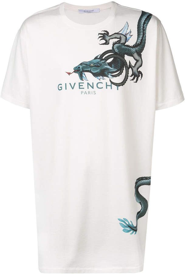 c460f73e8 Givenchy logo dragon print T-shirt | Products in 2019 | Designer ...