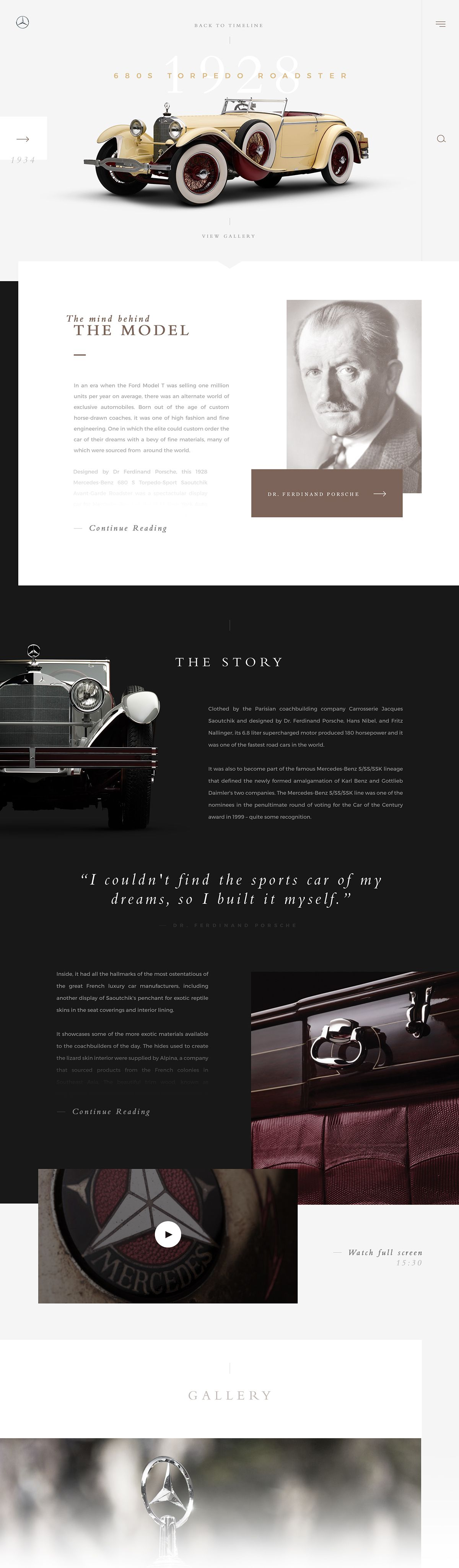 gorgeous website for this vintage car | Webdesign and layout ...