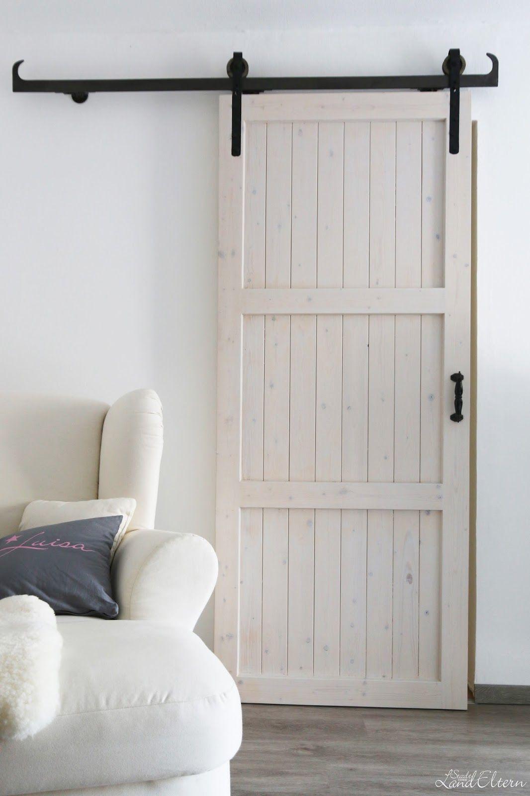 stadtlandeltern selbstgebaute schiebet r diy barn door. Black Bedroom Furniture Sets. Home Design Ideas