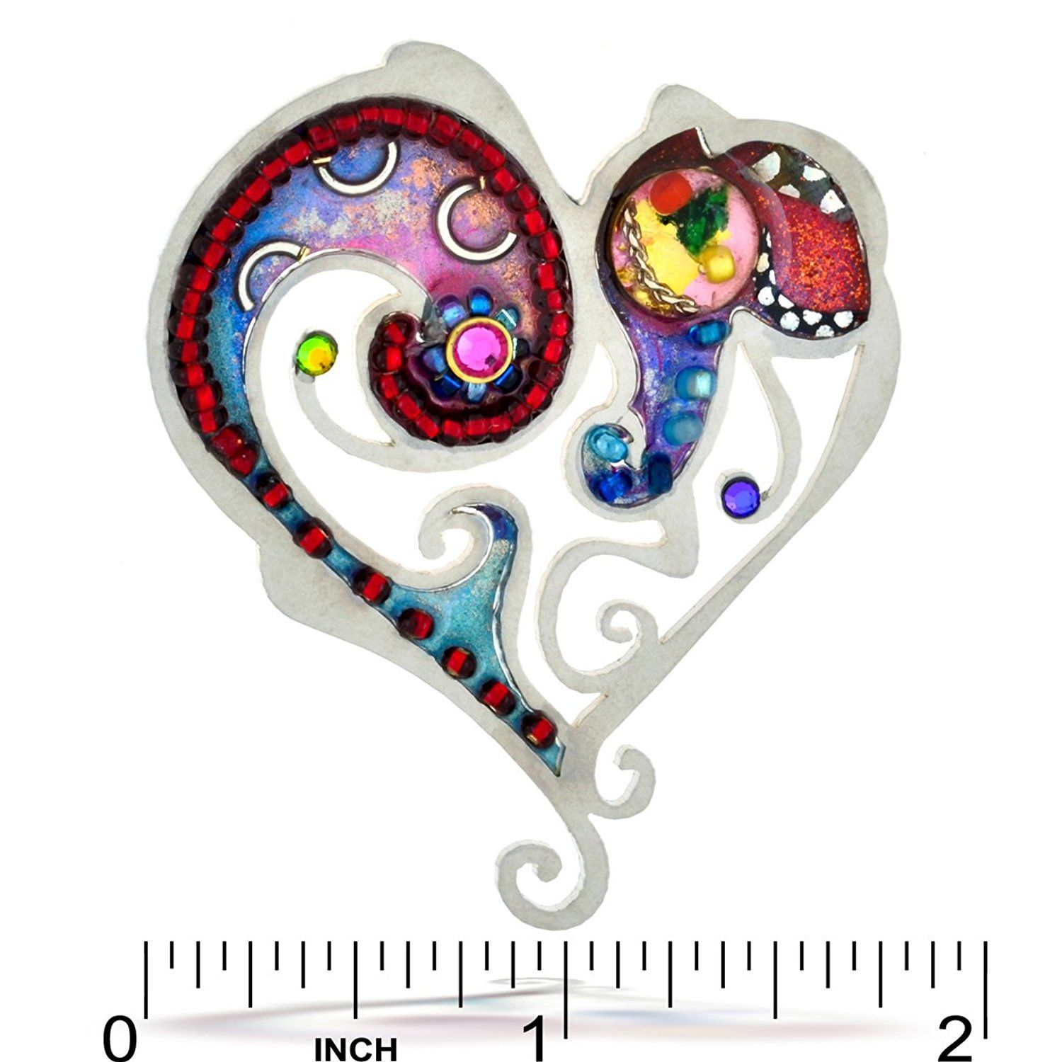 Superb Seeka Swirling Heart Love Pin From The Artazia Collection P0706 * Read More  At The Image