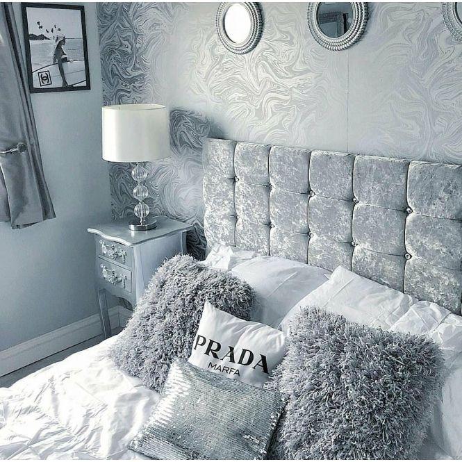 Carrara Marble Metallic Wallpaper Soft Grey Silver Ilw980113 Grey Wallpaper Bedroom Silver Wallpaper Bedroom Luxurious Bedrooms