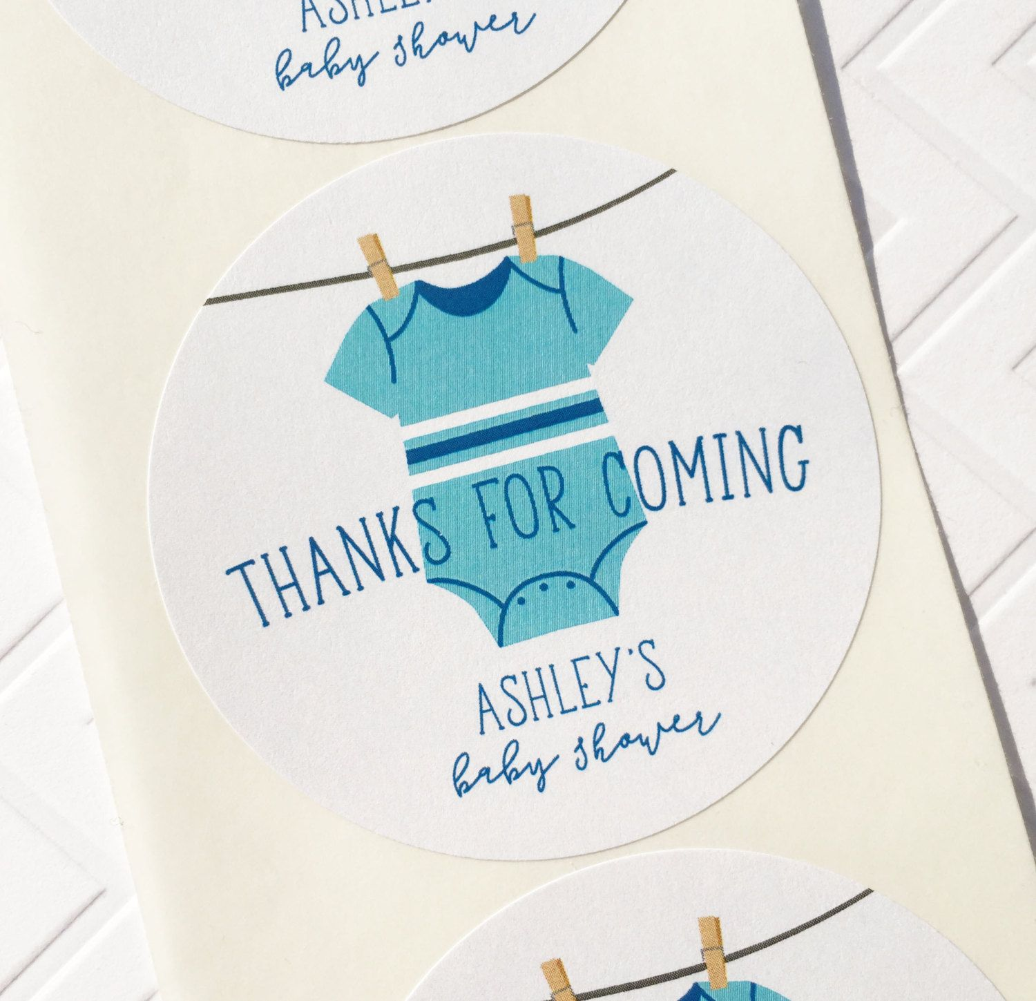 Personalized Baby Shower Favors Baby Shower Thank You Stickers