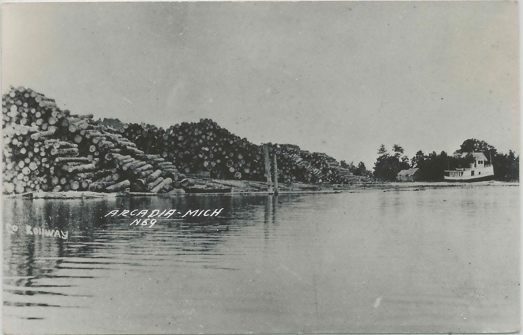 SHIP Arcadia MI RPPC INBOUND Steamer Ferry SS John D  Dewar