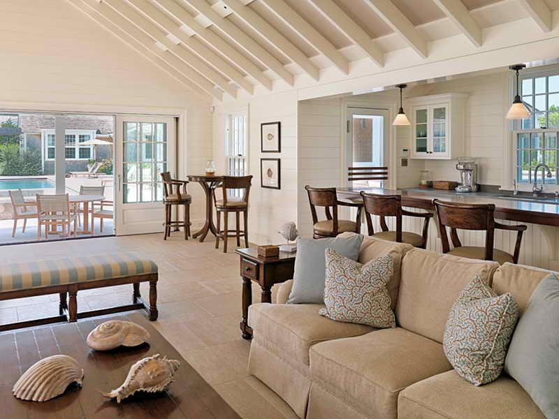 Nantucket Fea Pool House Interior Design ~ http://lovelybuilding ...