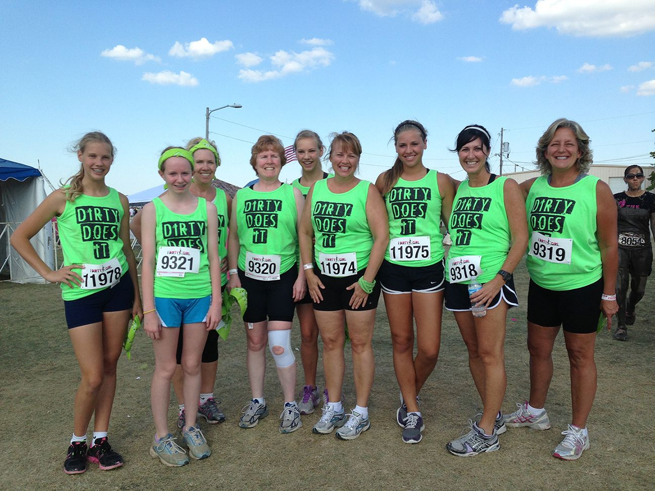 did you know that mud run matching team outfits are highly