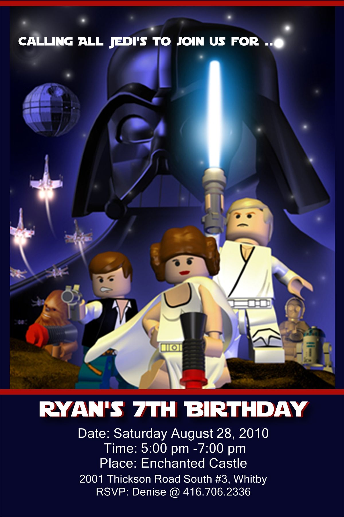 17 Best images about Lego Star Wars Invites – Lego Star Wars Birthday Invitations