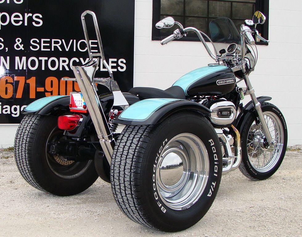 Harley Davidson Sportster To Trike Conversion Kit Information Harley Davidson Sportster Trike Harley Davidson