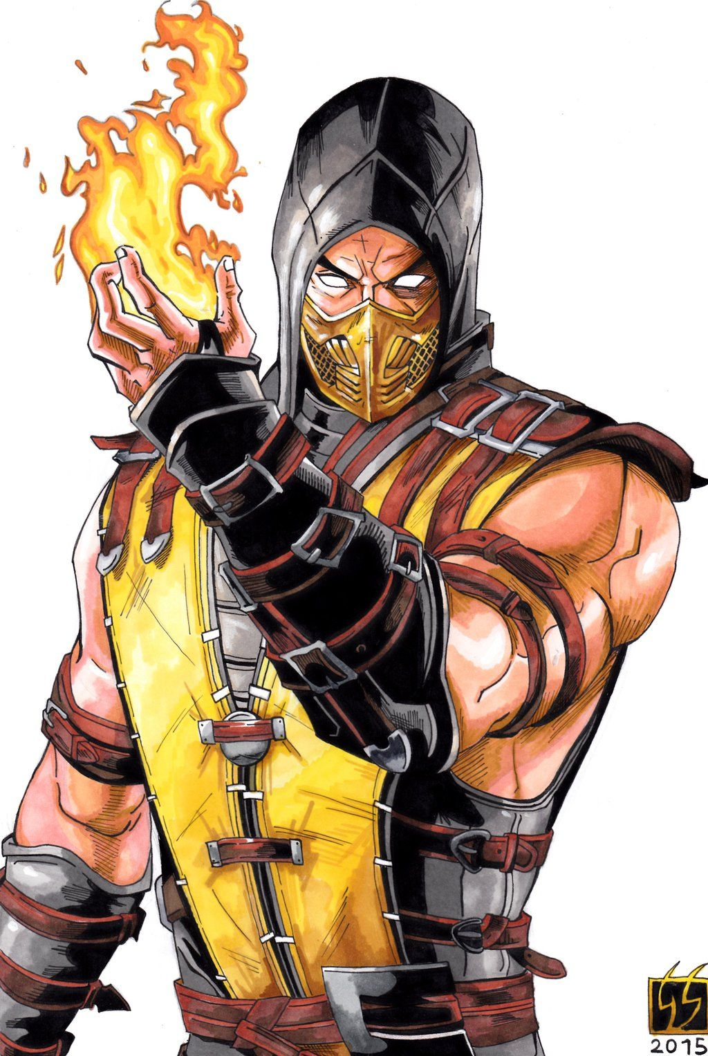 scorpion mortal kombat | Scorpion Mortal Kombat X (color) by