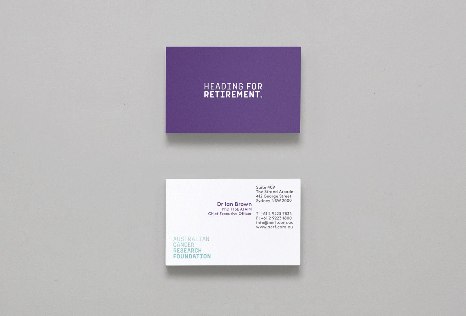 Australian Cancer Research - Business Cards | Australian Cancer ...