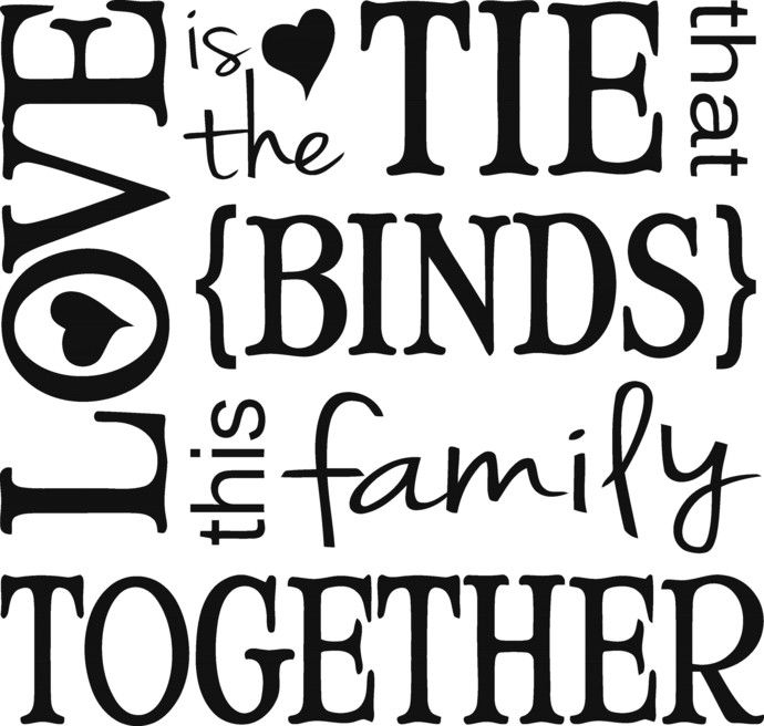 Download Love is the tie that binds this family together, a family ...