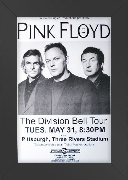 11x17 Concert Poster Pink Floyd The Division Bell Framed or Un ...