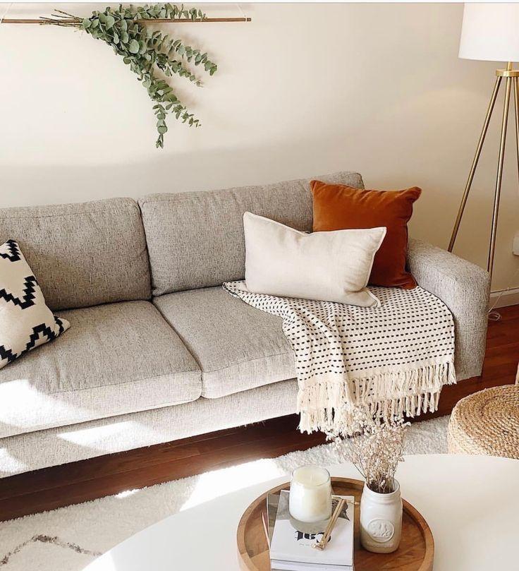 Best Simple Living Room Light Gray Sofa Boho Living Room 400 x 300
