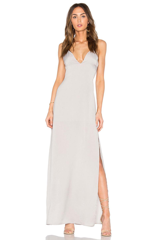 2398467a9163 Capulet x REVOLVE Deep V Maxi Dress in Silverado   REVOLVE   MORP ...