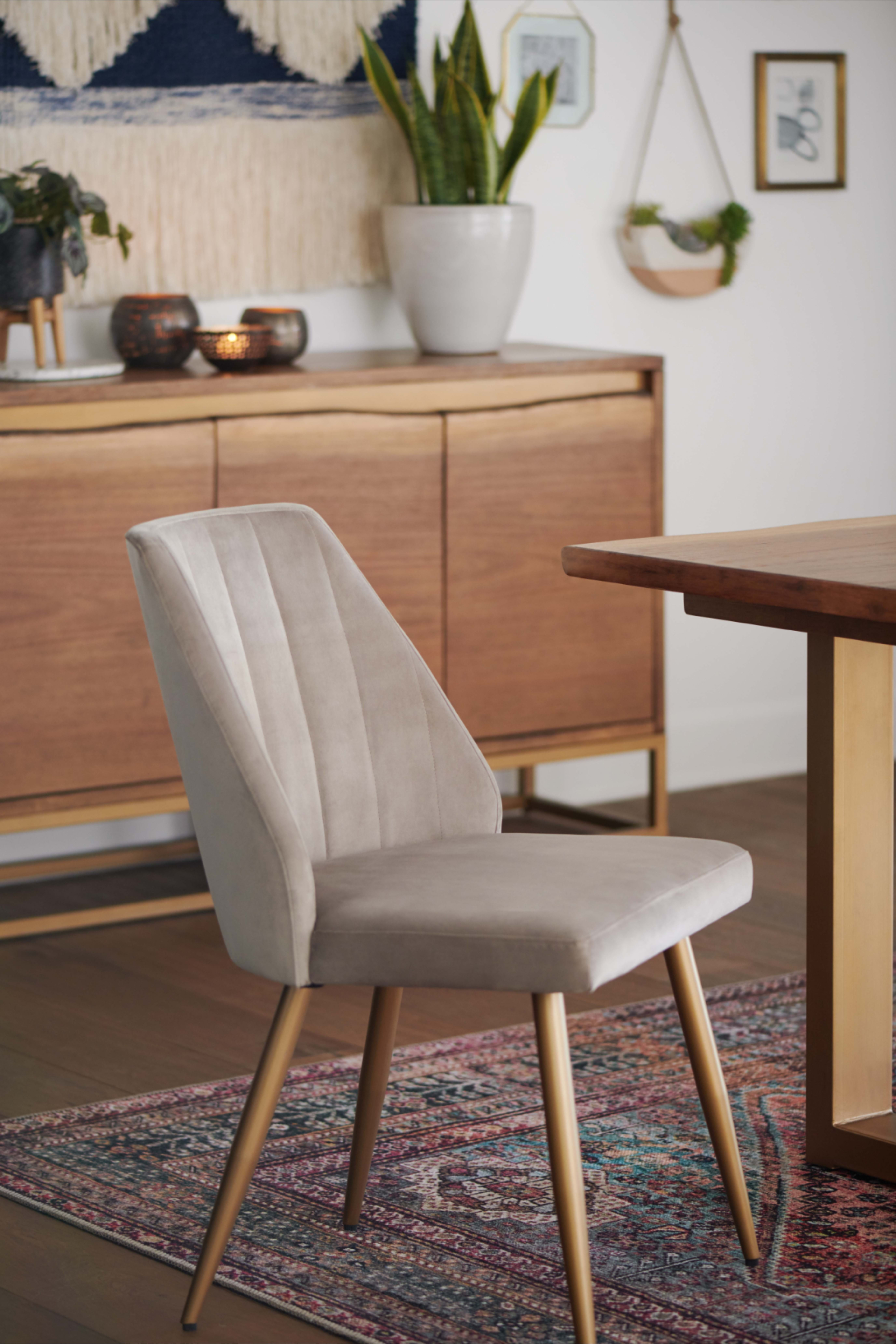 The Subtle Angles Of Our Leilani Dining Chairs Evoke Mid Century