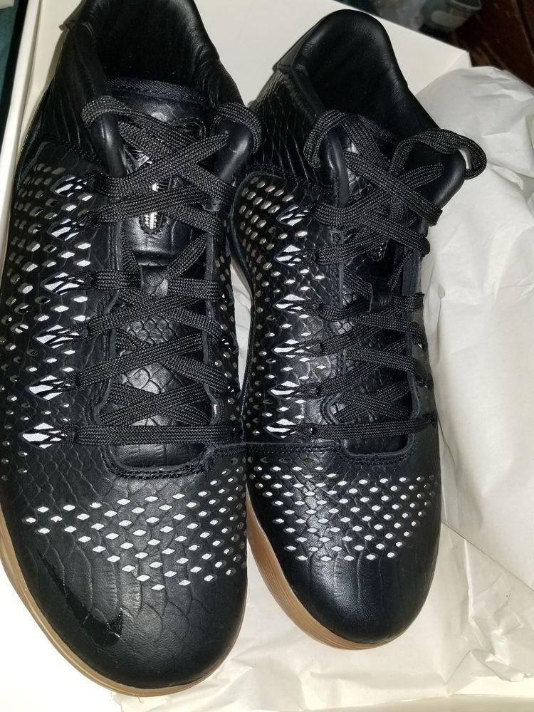 4c19795badb6f Nike Kobe IX 9 Mid EXT QS Black Snakeskin Gum Mamba SZ 9.5 704286 ...