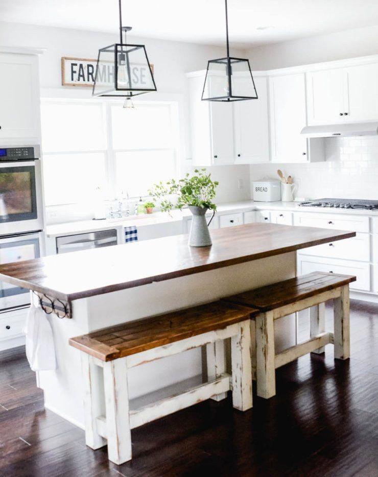 11 DIY Farmhouse Kitchen Ideas For Your Fixer Upper Home # ...