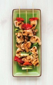 Chicken & Vegetable Yakitori - Soy and wheat-free!