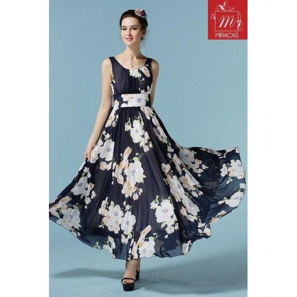 White flowy dress ukuran