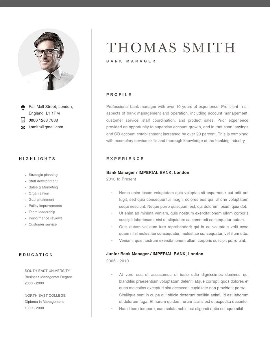Classic Resume Template [120290] Good resume examples