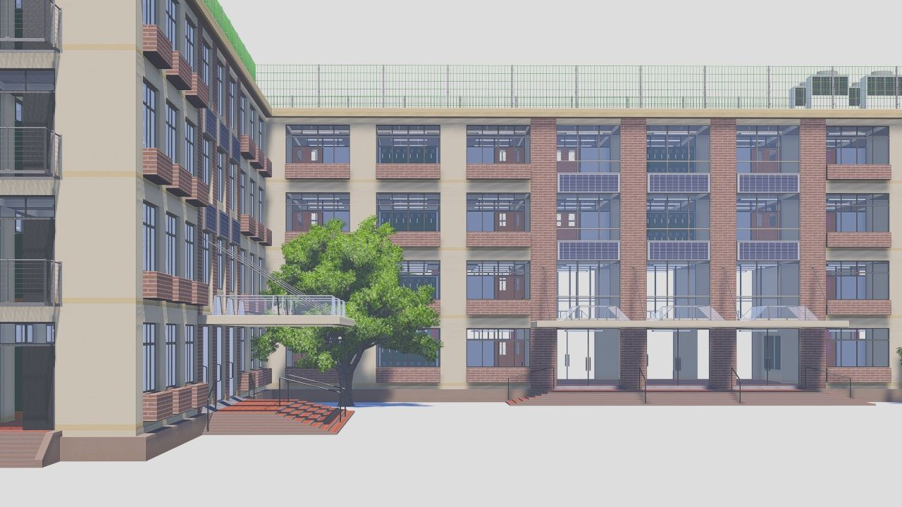 School Building 2 Exterior Manga School Anime Places Anime Scenery