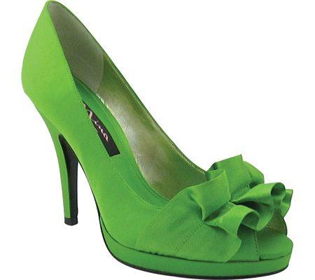 Evelixa Lime WeddingGreen WeddingSummer PumpsGreen High Heels Satin