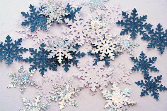 Snowflake Table Confetti Winter Wedding Table Decor Christmas