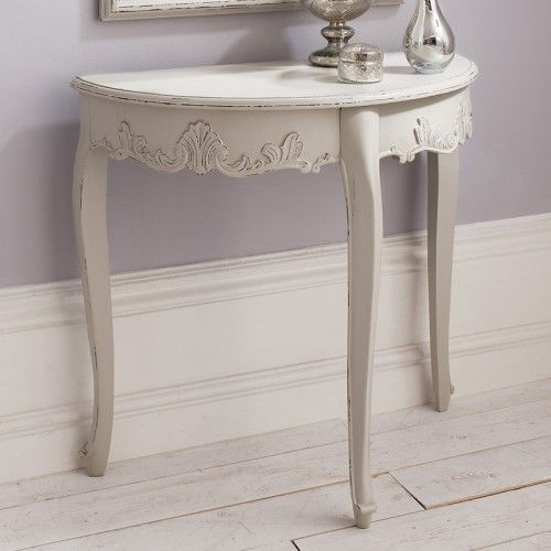 Half Round Console Table sophisticated half round console table and mirror with a