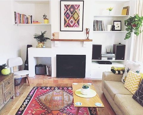 thank you for sending your photo dear @sloane_peterson .Such a gorgeous home and our lovely rug. And that kilim print is such a great idea! I am always happy to see how you lay our rugs!Photoshoot was so good today. Will share beauties later tonight (turkish time)  vibes!