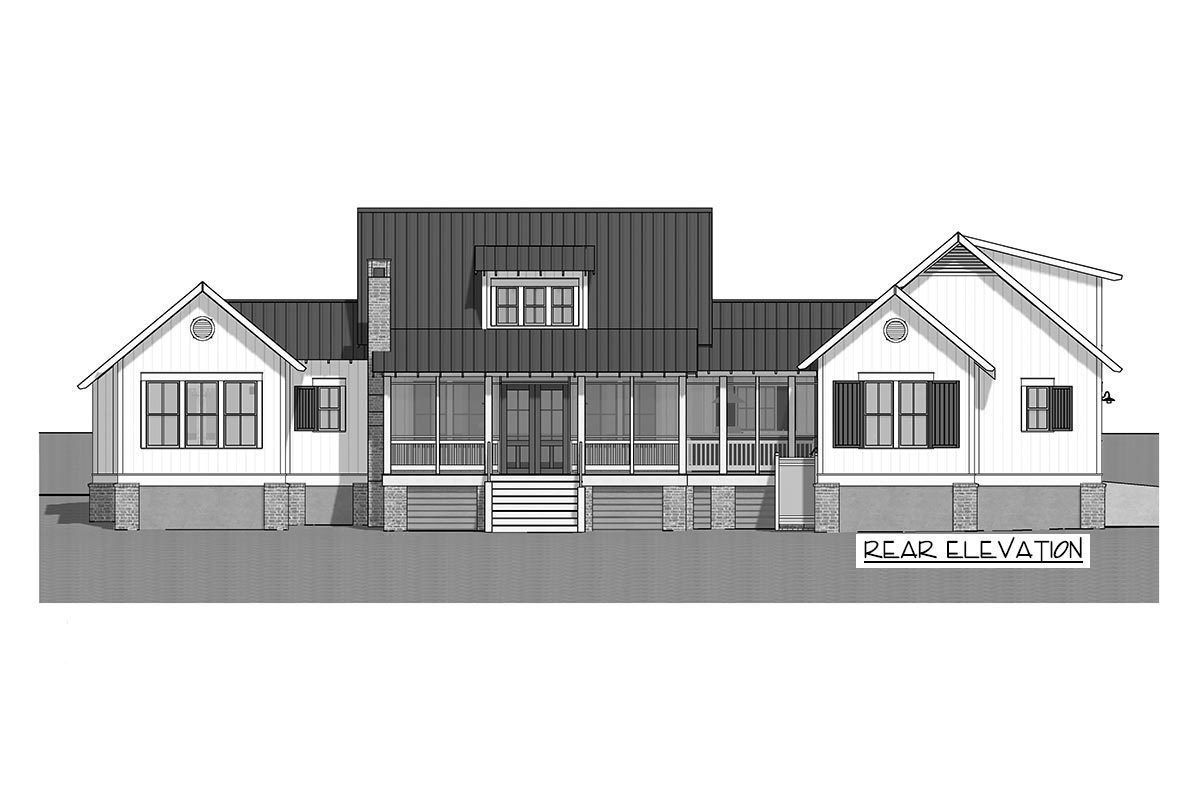 Plan 130026lls Split Bed Exclusive Farmhouse With Bonus